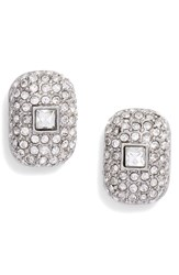 Vince Camuto Pave Stud Earrings Silver
