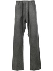 A Diciannoveventitre Straight Leg Trousers Grey