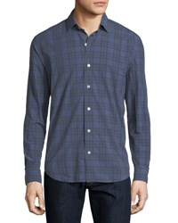 Culturata Plaid Cotton Shirt Blue