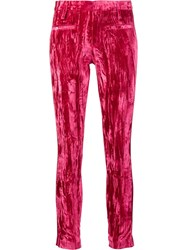 Haider Ackermann Stripe Detail Skinny Trousers Pink Purple