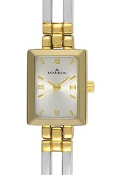 Women's Anne Klein Square Case Bracelet Watch 12Mm X 16Mm Silver Gold