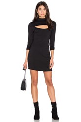 Nytt High Neck Open Front Dress Black