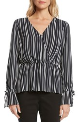 Willow And Clay Stripe Top Black