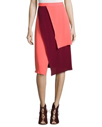 Tanya Taylor Tiered Two Tone Skirt Size 6 Multi Colors