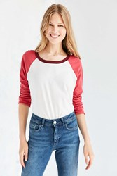 Truly Madly Deeply Zoey Baseball Tee Red