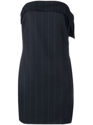 Rta Striped Dress Blue