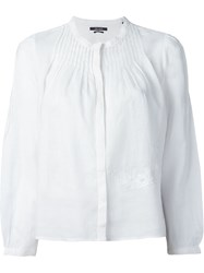 Isabel Marant Embroidered Blouse White