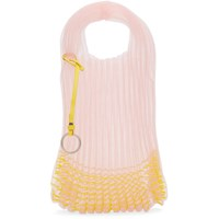 Jil Sander Pink And Yellow Small Beaded Market Tote Bag