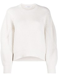 Givenchy Oversized Sleeves Crew Neck Jumper White