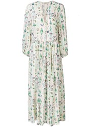 Zadig And Voltaire Printed Long Dress Neutrals
