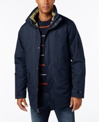 Izod Men's Systems Ski And Snowboard Hooded Jacket Midnight