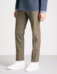 Slowear Icegab Slim Fit Tapered Stretch Cotton Trousers Brown