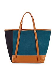 See By Chloe Colorblock Leather Tote Peacock