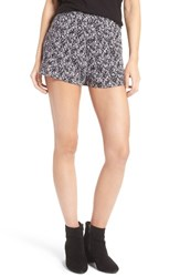 Women's Bp. Print Swing Shorts Purpl Evening Grunge Floral
