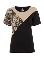 Tigi Dolman Cap Sleeve Top Brown