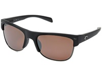 Costa Pawley's 580 Mirror Plastic Matte Black Silver Mirror 580P Plastic Lens Fashion Sunglasses