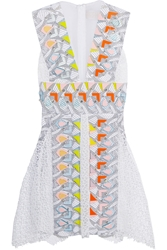Peter Pilotto Phoenicia Embellished Guipure Lace And Tulle Mini Dress