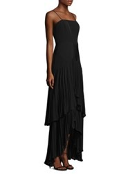 Laundry By Shelli Segal Pleated Gown Black