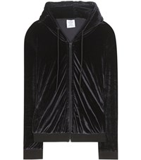 Vetements Velour Hoodie Black