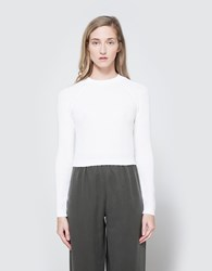 Christophe Lemaire Fitted Rib Sweater In Chalk