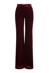 Emilio Pucci Wide Leg Velvet Pants Red