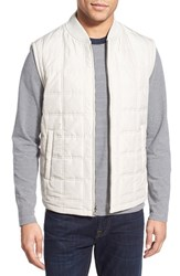 Men's Brooks Brothers Reversible Full Zip Vest Light Beige