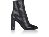 Saint Laurent Women's Loulou Perforated Leather Ankle Boots Navy Black