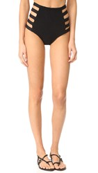 Tori Praver Swimwear Solids Vera Strappy High Waist Bottoms Storm