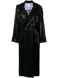 Each X Other Sequin Trench Coat Black