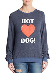 Wildfox Couture Hot Dog Pullover Opium Blue