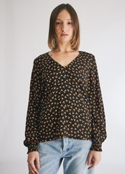 Just Female Veneda Blouse In Snowdrop Flower Size Extra Small