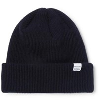 Norse Projects Ribbed Wool Beanie Navy