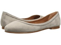 Frye Carson Ballet Grey Oiled Nubuck Women's Flat Shoes Gray