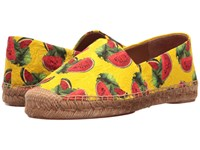 Dolce And Gabbana Brocade Watermelon Print Espadrille Yellow