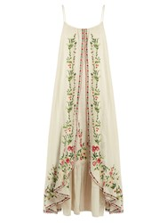 Mes Demoiselles Josephine Floral Embroidered Cotton Dress Cream Multi