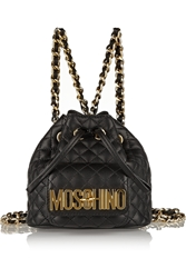 Moschino Quilted Mini Leather Backpack