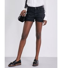 Ag Jeans The Hailey Stretch Denim Shorts Sulfur Black Terrain