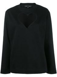 Proenza Schouler Heart Cut Out Knitted Top Black