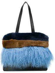 P.A.R.O.S.H. Panelled Tote Blue