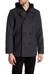 Kenneth Cole Wool Blend Car Coat Gray