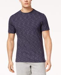 Club Room Men's Textured Stripe T Shirt Created For Macy's Navy Blue