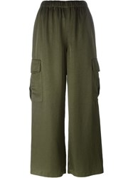 Comme Des Gara Ons Vintage Cargo Trousers Green