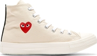 Comme Des Garcons Off White Heart Logo Converse Edition High Top Sneakers