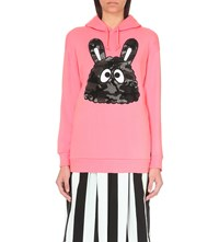 Mini Cream Bunny Face Jersey Hoody Pink