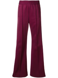 Marc Jacobs Side Stripe Track Pants Polyester Spandex Elastane Pink Purple