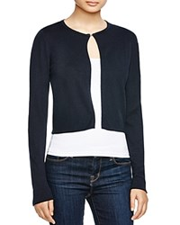 T Tahari Cropped Cardigan Navy