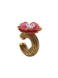 Fendi Single Flower Earring Gold