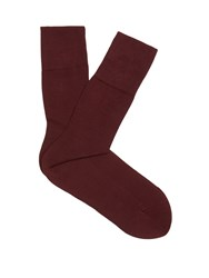 Falke Tiago Cotton Blend Socks Burgundy