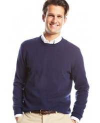 Club Room Big And Tall Cashmere Crew Neck Sweater Midnight Blue