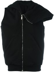 Rick Owens Drkshdw Zip Up Asymmetric Hoodie Black